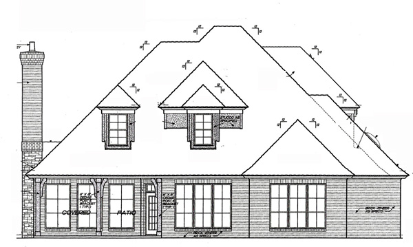 European, French Country House Plan 66211 with 4 Beds, 4 Baths, 3 Car Garage Rear Elevation