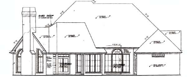 House Plan 66216 Rear Elevation