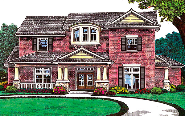 House Plan 66222 with 4 Beds, 4 Baths, 3 Car Garage Elevation