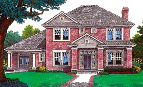 House Plan 66223 with 4 Beds, 4 Baths, 3 Car Garage Elevation