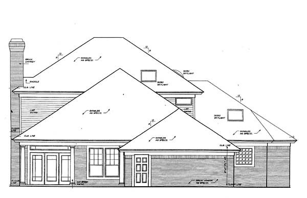 House Plan 66223 Rear Elevation