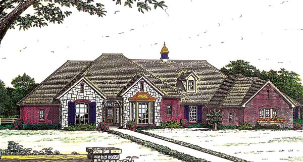 House Plan 66226 with 4 Beds, 3 Baths, 3 Car Garage Elevation
