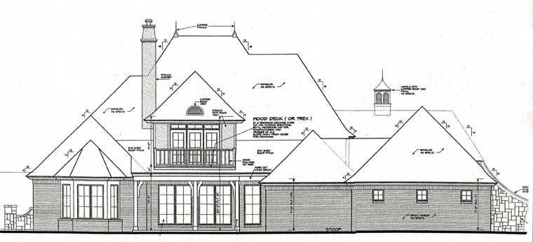 French Country House Plan 66235 Rear Elevation