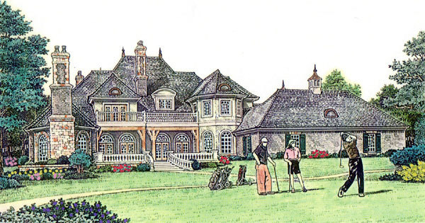 Country French Country House Plan 66236 Rear Elevation