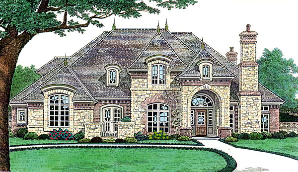 House plan 66238 at for French country garage plans