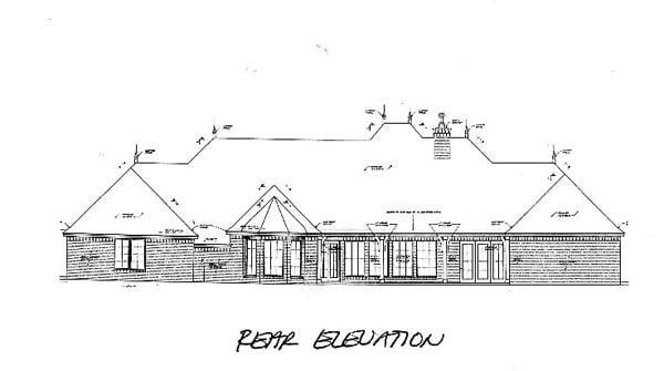 Southern House Plan 66240 Rear Elevation