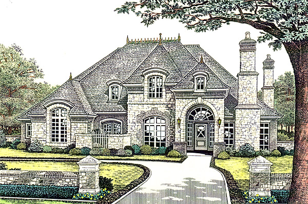 House plan 66245 at for Custom french country house plans