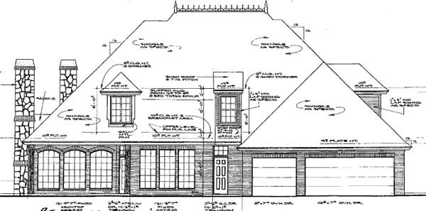 European French Country House Plan 66245 Rear Elevation