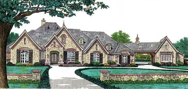 French Country Style House Plan 66248 With 4 Bed 5 Bath