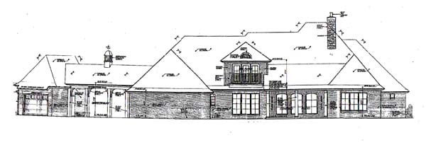 European French Country House Plan 66248 Rear Elevation
