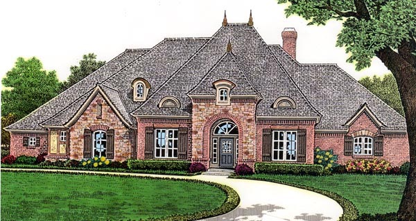 European House Plan 66254