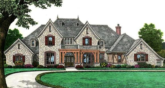 European, French Country House Plan 66267 with 4 Beds, 4 Baths, 3 Car Garage Elevation