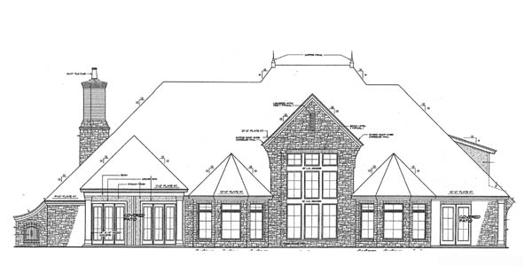 European French Country House Plan 66267 Rear Elevation