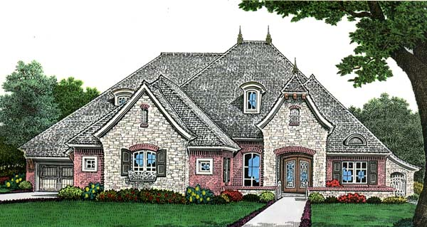European House Plan 66269 Elevation