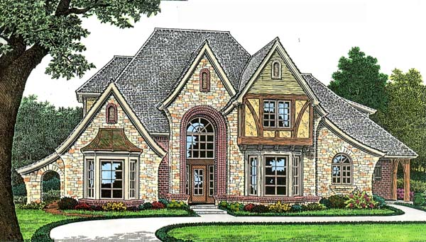 European, French Country House Plan 66271 with 4 Beds, 5 Baths, 3 Car Garage Elevation