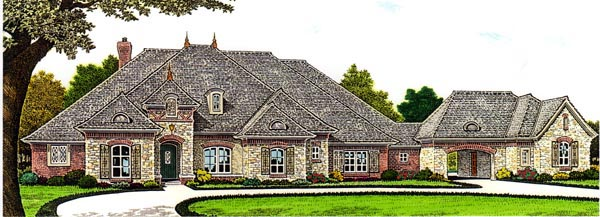 Country European House Plan 66283 Elevation