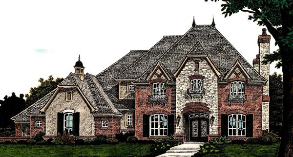 Country European French Country House Plan 66284 Elevation