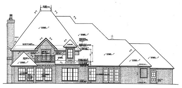 Country European French Country House Plan 66284 Rear Elevation