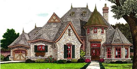 Country, European, French Country House Plan 66287 with 3 Beds, 3 Baths, 3 Car Garage