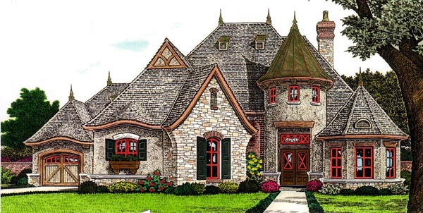 Country European French Country House Plan 66287 Elevation