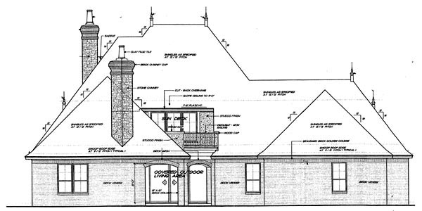 Country European French Country House Plan 66287 Rear Elevation