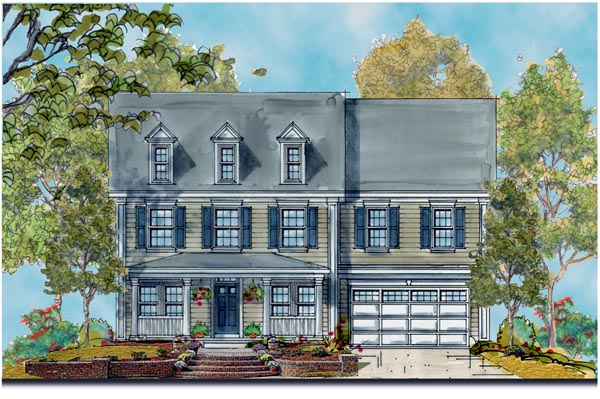 Traditional House Plan 66431 Elevation