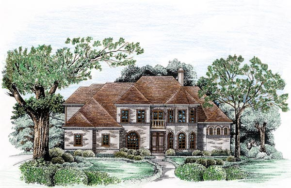 European House Plan 66432 Elevation