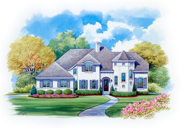 European House Plan 66433 Elevation