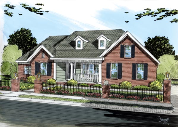 Traditional House Plan 66453 Elevation