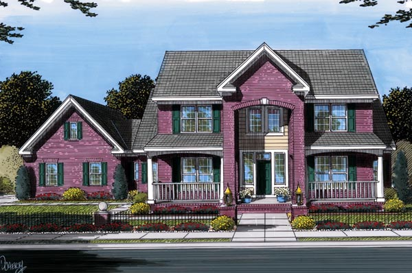 Traditional House Plan 66455 Elevation