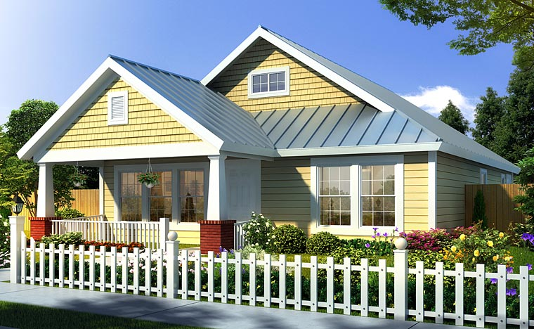 Elevation of Traditional   House Plan 66468