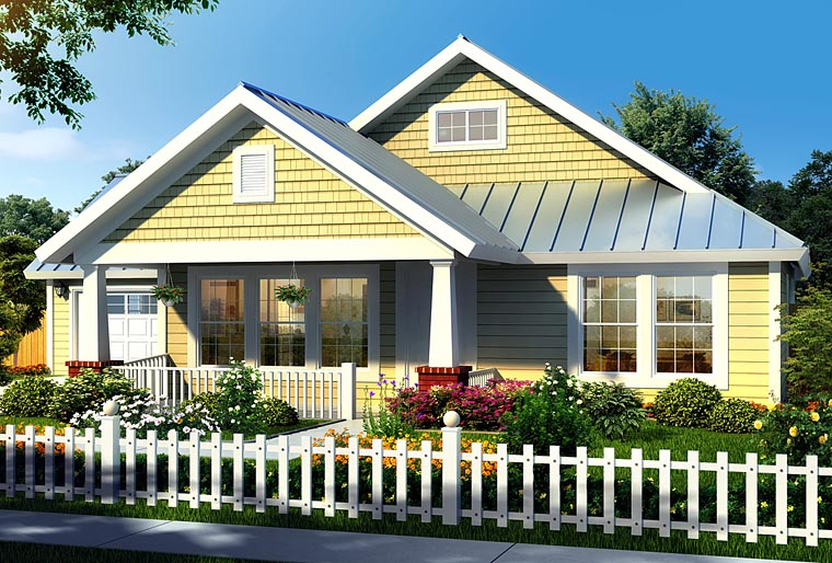 Bungalow Craftsman House Plan 66469 Elevation