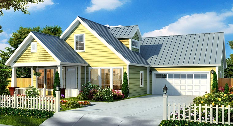 Cottage Craftsman House Plan 66471 Elevation