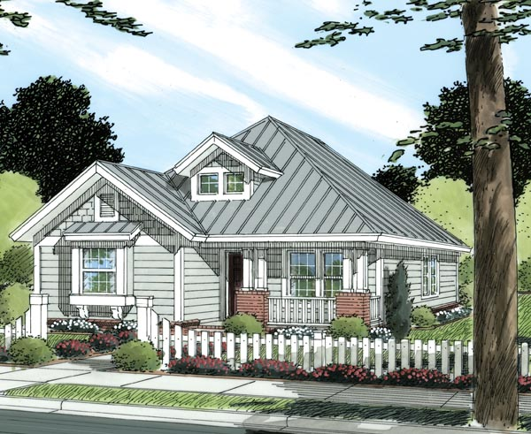 Elevation of Traditional   House Plan 66476