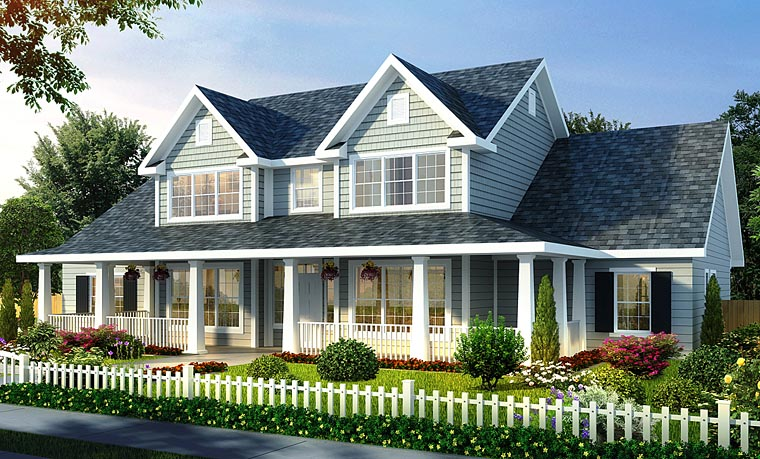 Farmhouse House Plan 66485 Elevation