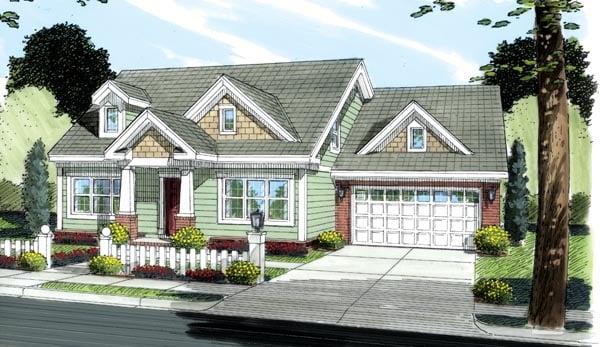 Bungalow Craftsman House Plan 66493 Elevation