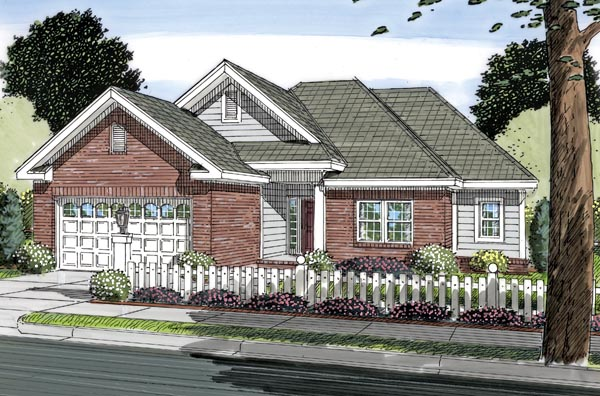Traditional House Plan 66497 Elevation