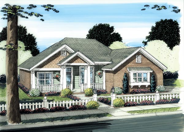 Cottage Traditional House Plan 66507 Elevation