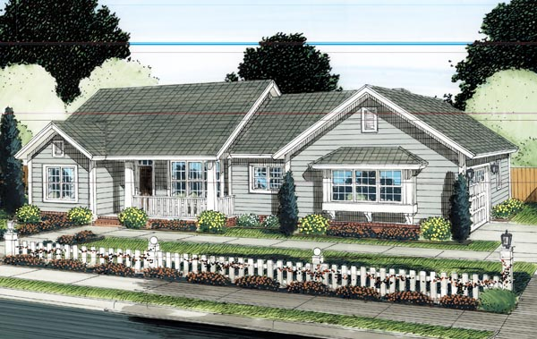 Ranch Traditional House Plan 66521 Elevation