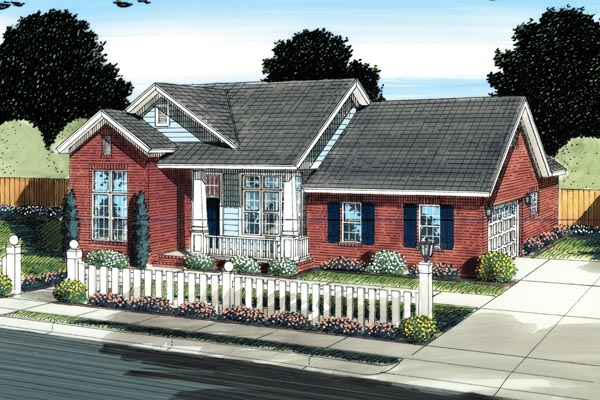 Traditional House Plan 66524 Elevation