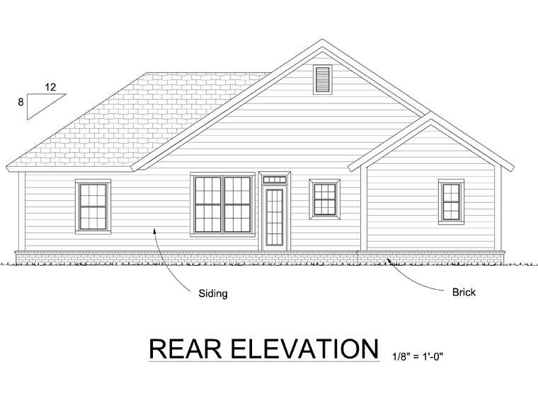 Traditional House Plan 66530 Rear Elevation