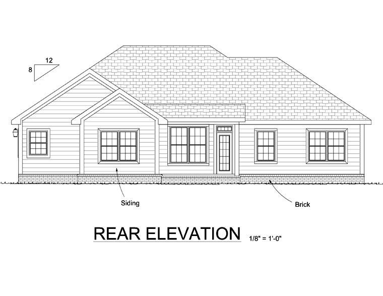 Traditional House Plan 66548 Rear Elevation