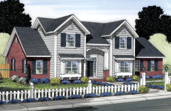 Traditional House Plan 66550 Elevation