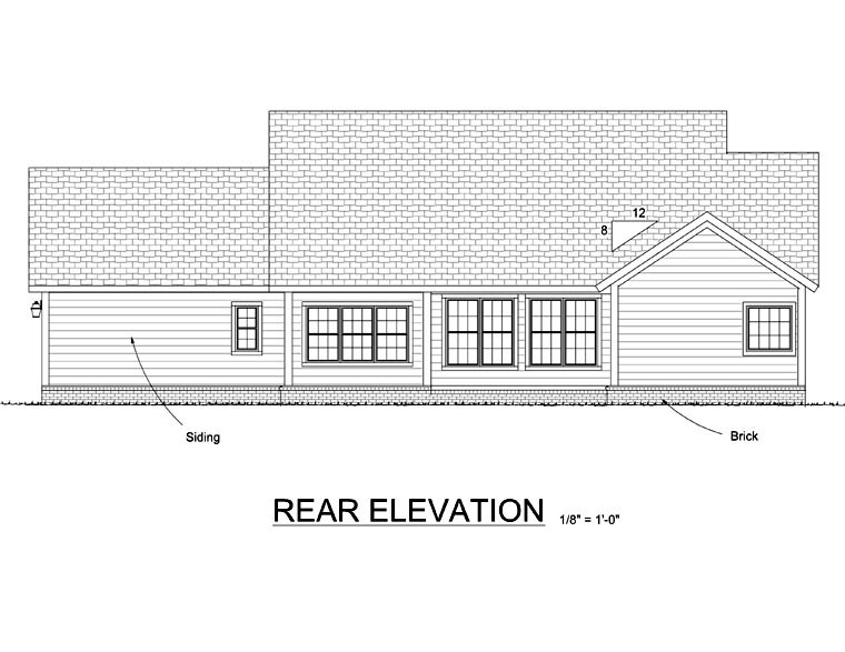 Traditional House Plan 66550 Rear Elevation