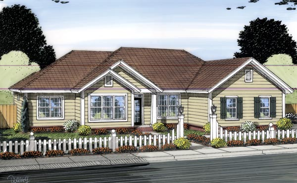Traditional House Plan 66552 Elevation
