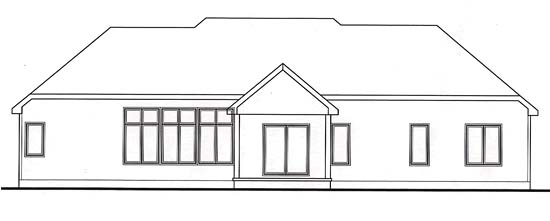 Traditional House Plan 66562 Rear Elevation