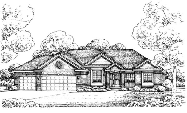 Traditional House Plan 66571 Elevation