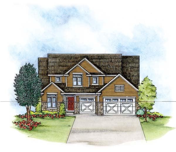 Craftsman House Plan 66579 Elevation