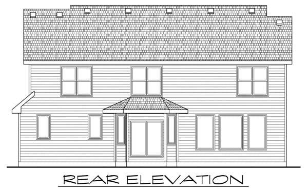 Craftsman House Plan 66579 Rear Elevation