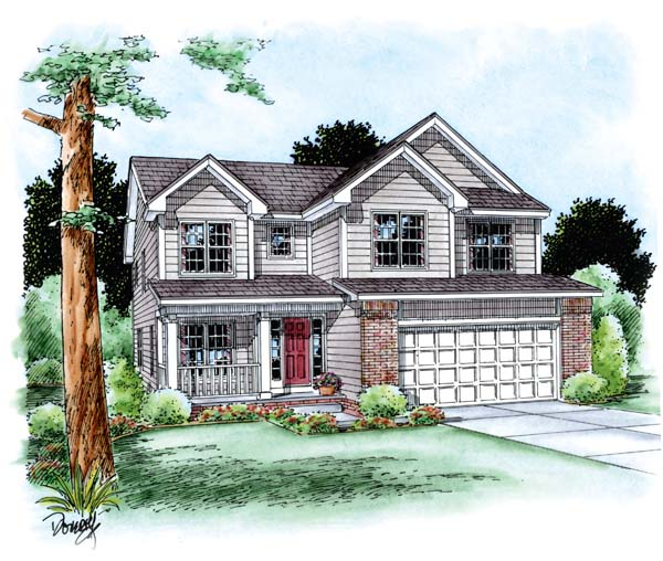 Traditional House Plan 66622 Elevation
